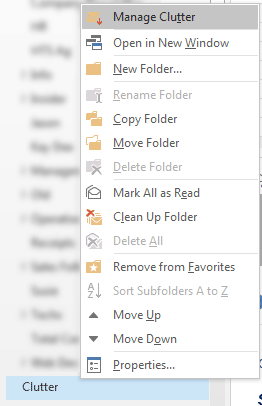 clutter folder